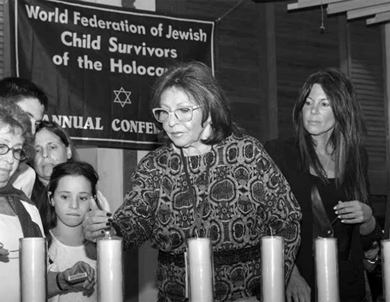 Attendees from the US and Guatemala at multi-generational candle-lighting ceremony in memory of the SixMillion Martyrs. Jerusalem, 2017. Courtesy of the World Federation of Jewish Child survivors of the Holocaust and Descendants