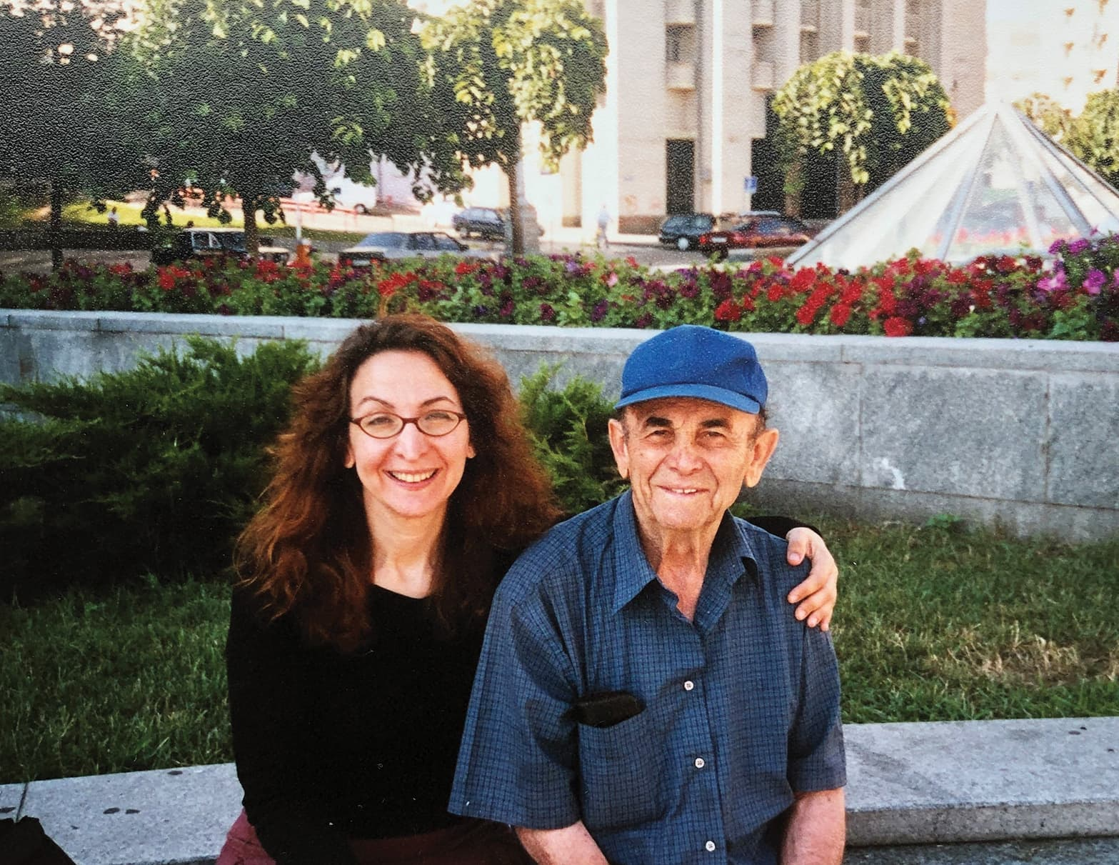 """Heidi Bratt with her father, Michael Bratt, on a trip in 2006 to Rovno, Ukraine, to visit his hometown. """"I could channel my parents' strength,"""" she says."""
